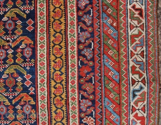 Classic antique Afshar village rug. 255 x 150cm. Organic dyes. In need of minor repairs and a clean to make it tip top.