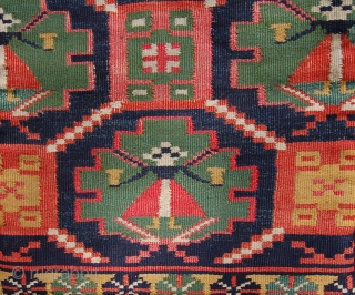 Swedish  Agedyna carriage cover in rolakan technique. Early 19th.c. 92 x 42cm. Some small splits to the field.
