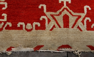 Charming antique tibetan dragon rug. Feels old and well made to me. Circa 1900-1925?. 183 x 124cm. Recently sourced from an English collection.  Crisp condition. Recently clean.