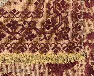 Sardinian wool panel. Circa 1900.150 x 70cm.