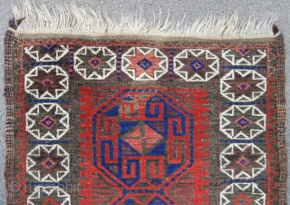 Baluch tribal rug. Circa 1900. 129 x 68cm. Good colour and condition.