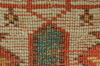 18th century west anatolian prayer rug.115 x 105cm.