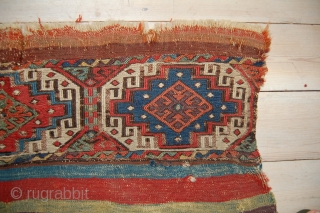 East Anatolian Malatya chuval. Good age with intense dyes and a little metal thread highlights. 97 x 53cm.