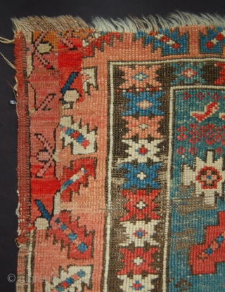 Early Aksary central anatolian prayer rug.Circa 1800-25. Some wear and a patch in the top right corner.118 x 100cm.