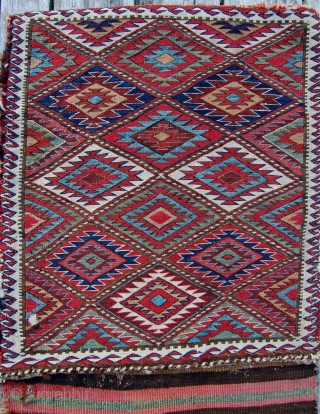 Complete antique sumak khorjin. 19th century. Good unrestored condition with lovely old colours. 134 x 55cm.