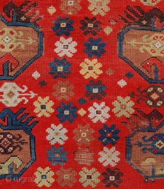 South west anatolian Melas rug with an unusual design. 183 x 125 cm. Some wear.