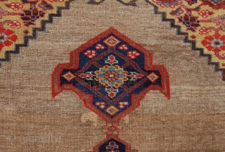 Antique Bijar rug. 19th century.160 x 109cm. Sides over wrapped and Im assuming the borders are missing. But still a lovely thing.