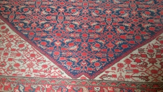 Old decorative Malayer carpet size: cm.390*290 Very good condition,no repairs,stunning dyes