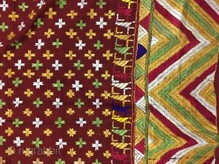 Vintage phulkari from east Punjab India from Badal district of Punjab india