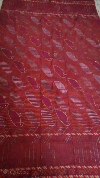 Very rare tota(parrot)Phulkari  Bagh from east punjab india in very good and mint condition.
