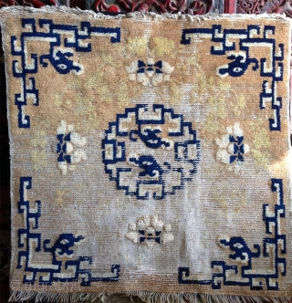 a beautiful big  bold ningxia square made between the qianlong and kangxi era, during the short yongzheng reign in the first third of the 18th century.a single throne seat not a  ...