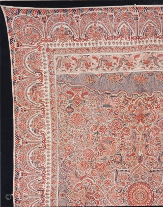 Indian Trade textiles 005 - Coromandel Coast, ceremonial cloth and sacred heirloom traded to Indonesia, 18-19th century, very good condition. Price on request.