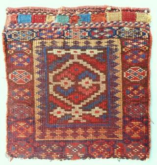 Kurdish SaujBulagh pile bagface. C. 1850-70. Very good, original condition.