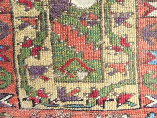 Magnificent 18th Konya long rug with exquisite color. Conserved and mounted on linen. New to the market.