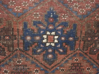 "Unusual Baluch/Turkman tribal rug with unique ""grapes"" motif"