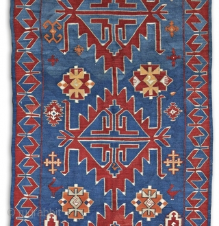 Avar kilim, 530x135 cm, early 20th century, Daghestan, wool on wool, bold, graphic/archaic drawing, strong weave, deep colors, perfect, original condition. More beauties on sale: http://rugrabbit.com/profile/5160
