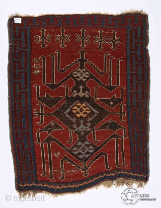 """""""Myths are public dreams, dreams are private myths."""" Joseph Campbell. Avar piled rug, Northeast Caucasus, 19th century. As small, as powerful it is .... an expressive, mythic creature expands on a deep  ..."""