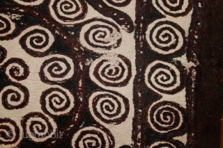 Probably the most ancient layer of Turkmen's art. Yomud Namad, 2 sided main felt carpet. Found some weeks ago in a Turkmen yurt right at the Turkmen and Iranian border, by the  ...