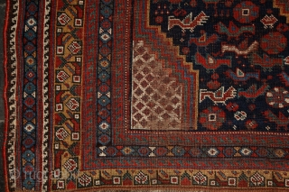 """Monumental Khamseh """"Bird"""" carpet, 380x195 cm ! , never senn this kind of rug in that size earlier... The quality is perfect from every point of view, wool, colors... Colors are saturated and  ..."""