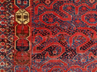 """""""The most beautiful thing we can experience is the mysterious. It is the source of all true art and all sciences."""" Albert Einstein 'Snake' Beshir main rug, mid 19th century, Turkmenistan. Complete  ..."""