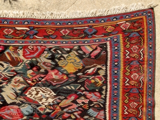 """""""Do not copy nature too much. Art is an abstraction."""" Paul Gauguin. Kurdish kilim, Senneh, Persia, ca. 1900. Intact, original, perfect condition. Extremly powerful, abstract drawing. Note the 2 hiding birds along  ..."""