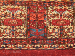 """Tekke mafrash or kap, complete with flatwoven back.  size= 1'0"""" x 1'10"""" , Inv# 17721  Collection of Dr. and Mrs. William T. Price  View our exhibition online at... http://peterpap.com/searchResults.cfm?searchType=collections"""