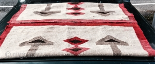 """Graphic old Navaho  Nice one Great design and size 3'9"""" X 6'6"""""""