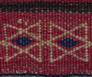AUTHENTIC Afghan Kochi Sumak (Soumac) circa 1990 267x102cm   This simple yet beautiful hand-woven nomadic sumak is a work of Afghan nomads  Material: Highland wool on cotton Flat-weave  Age: +/- 25 years old  Condition:  ...