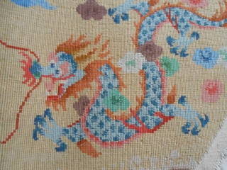 Peking, maybe Hellen Fette workshop, 1920-1930. cm. 140 x 70, wool on cotton foundation, 840 knots per square dm. Thanks for watching! Please see also my other posting at http://www.rugrabbit.com/profile/8723