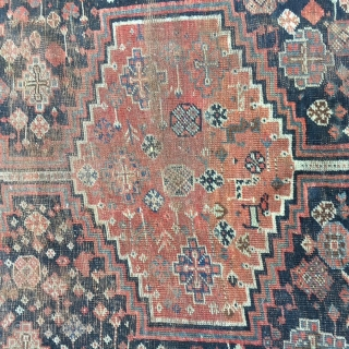 1880's QASHQAI 6x9 Rug:
