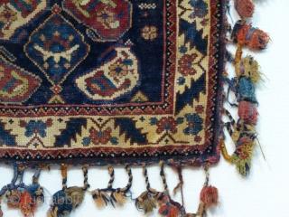 19th century Afshar chanteh. Natural colors. Size 36 x 47 cm.