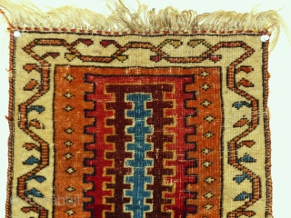 19th century Small Ghashgai rug from southern Persia.All natural color's.  size 55 x 39 cm.