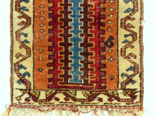 19th century Small Ghashgai rug from southern Persia.All natural color's. 