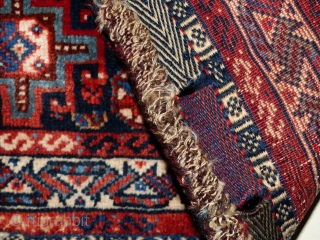 Qashgai bagface Wol op wol en natuurlijke Kleurstoffen and Zeer fijne Kwality size;60x62 cm