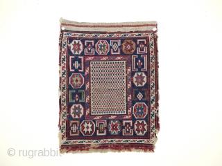 Antieke Shahsavan Sumak Bagface 1900 jh, zeer fijn geweven, met goede kleuren, mooie desigen,.size;40x31 cm