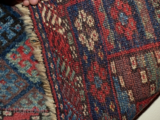 Kurdish Jaff, Circa 1900, Excellent condition, High pile, Great colours, Not restored, Size: 62 x 88 cm.