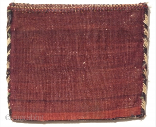 Bachtiari Sumak chanteh around 1920. Perfect natural colors and condition. Wool on wool. Size: 27 x 32 cm