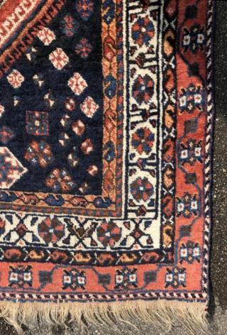 An old Gashgai rug in good shape. 240/150 cm.