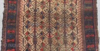 Antique Baluch Prayer Rug Size.122x95cm