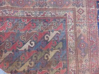 Antique Persian Kurdish Rug Size.290x133cm