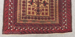 Antique Baluch Prayer Carpet Size.142x90cm