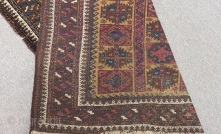 Antique Baluch Prayer Carpet Size.132x94cm