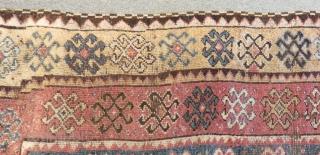 Antique East Anatolian Erzurum Carpet Size.355x125cm