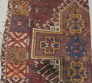 19th Century Central Anatolian Karaman Fragment Rug Size.290x112cm
