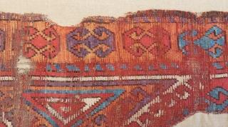 18th Centruy Central Anatolian Konya Carpet Fragment Size128x53cm