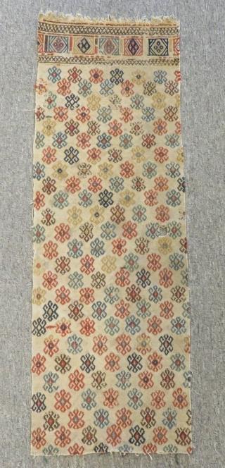 Antique Shahsavan Fragment Cecim Size.84x28cm