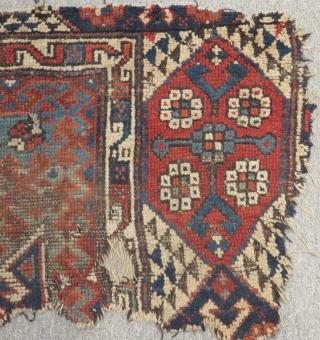 Antique West Anatolian Karakeçili Fragment Carpet Size.83x48cm
