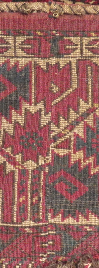 Antique Türkmen Ersari Kapuluk Rug had been cut from the length Size 147x30cm