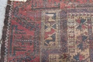 Antique Baluch Prayer Carpet Size.138x78cm