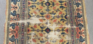 Antique China Carpet Size.190x130cm